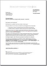 geschftsbrief vorlage - Geschaftsbrief Muster