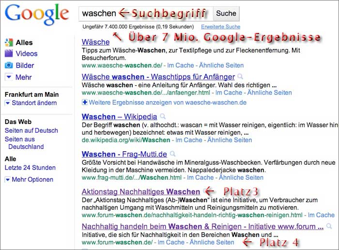 Top-10 Rankings vom Seotexter